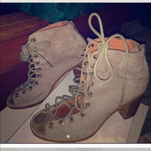 Lace up booties, Jeffrey Campbell